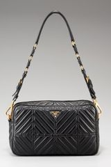 Prada Napa Chevron Lambskin Shoulder Bag - Lyst