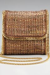 Stella McCartney Metallic Boucle Crossbody Bag - Lyst