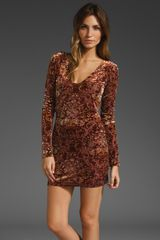 Free People Burnout Velvet Mini Dress - Lyst