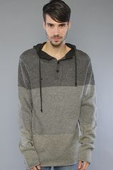Kr3w The Marshall Hooded Sweater in Grey in Gray for Men (grey) - Lyst