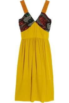 Burberry Prorsum Beaded Silk-georgette Dress - Lyst