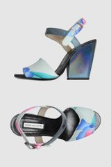 Dries Van Noten High Heeled Sandals in Multicolor (green) - Lyst