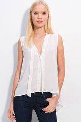 Elizabeth And James Jamie Silk Crepe Blouse - Lyst