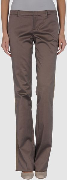 Gucci Casual Pants in Brown - Lyst
