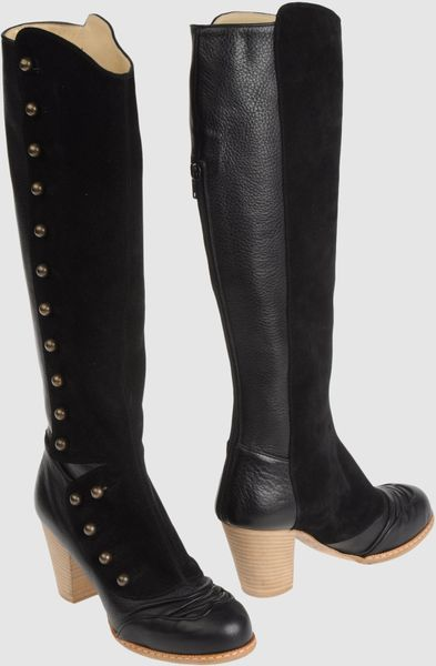 John Galliano  Highheeled Boots in Black - Lyst