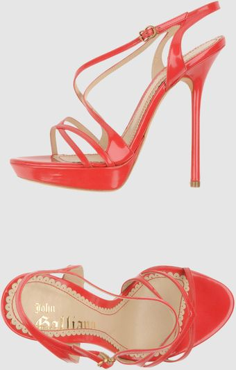 John Galliano Platform Sandals - Lyst