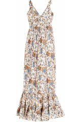 Leaves Of Grass Avignon Printed Silk Dress - Lyst