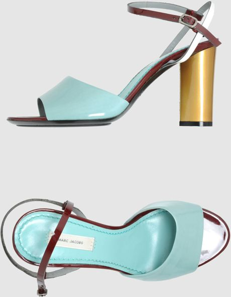 Marc Jacobs High Heeled Sandals In Blue Turquoise Lyst