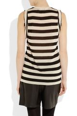 Mulberry Appliquéd Striped Modal Tank in Black - Lyst