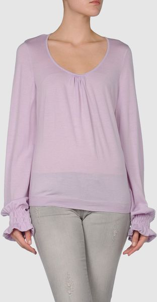 Valentino Long Sleeve Jumper in Purple (yellow) - Lyst