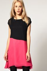 ASOS Collection Asos T-shirt Dress with Colour Block - Lyst