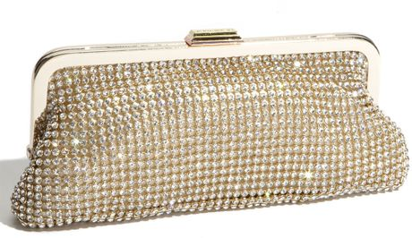 Bcbgmaxazria Crystal Clutch in Gold (ivory) - Lyst