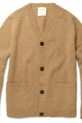Billy Reid Chunky Wool-blend Cardigan - Lyst