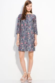 Cacharel V-back Printed Voile Dress - Lyst