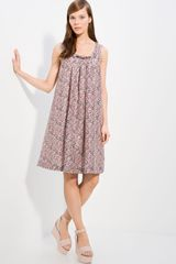 Cacharel Printed Voile Dress - Lyst