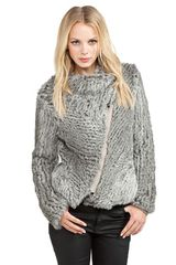 Helmut Lang Rabbit Fur Cardigan Jacket  - Lyst