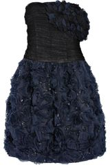 Oscar de la Renta Tulle and Ruffled Organza Dress - Lyst