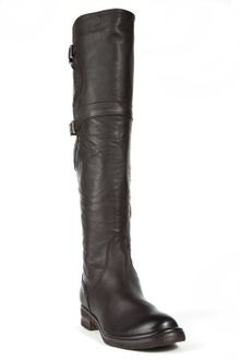 Alberto Fermani Double Buckle Boot - Brown - Lyst