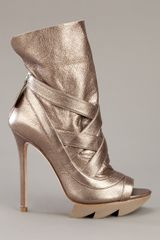 Camilla Skovgaard Metallic Boot in Gold (bronze) - Lyst