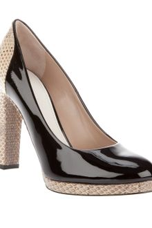 Chloé Two-Tone Court Shoe - Lyst