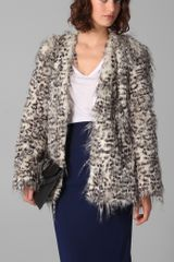 Club Monaco Claris Faux Fur Jacket - Lyst