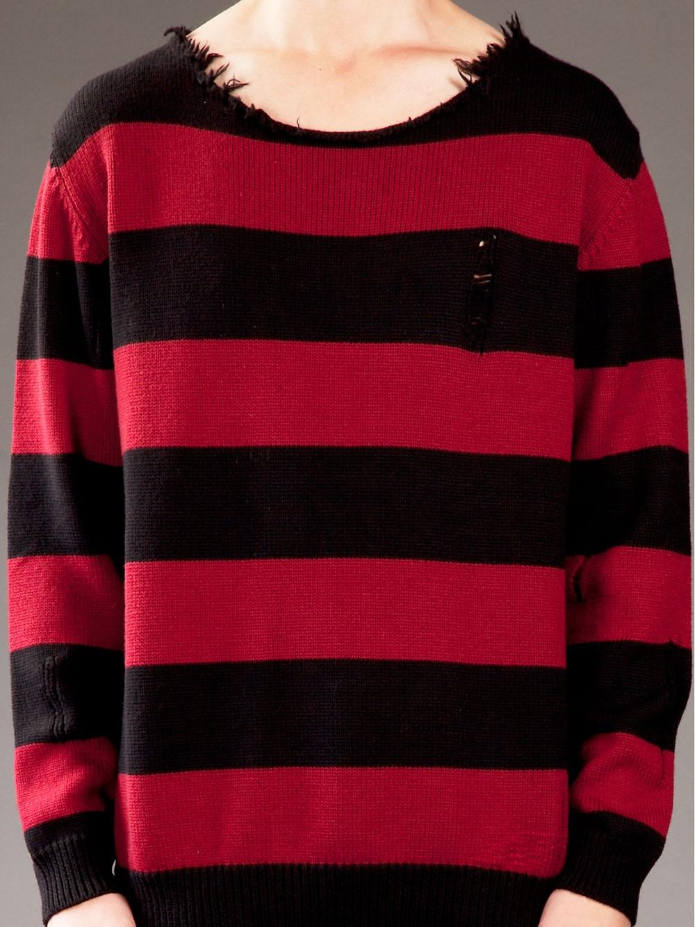 Dead Meat Striped Sweater In Red For Men Lyst