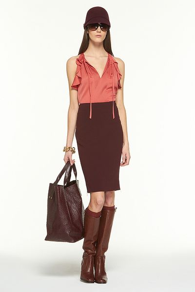 Diane Von Furstenberg Martini Pencil Skirt in Red (raisin) - Lyst