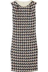 Erdem Jane Houndstooth Tweed and Crepe Shift Dress - Lyst