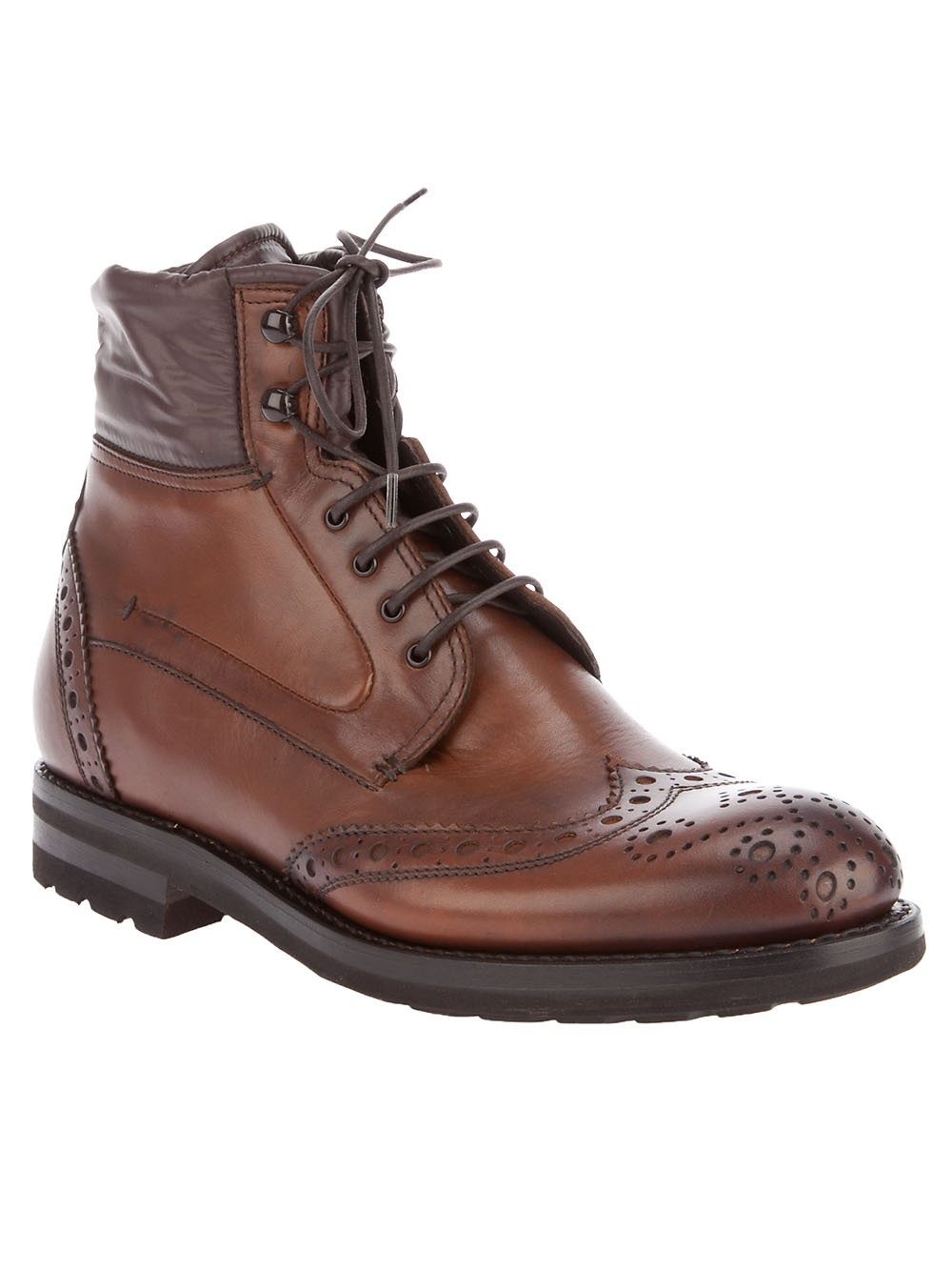 fabi brogue boot in brown for lyst