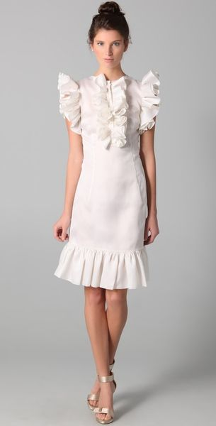 fancy Katie Ruffle Sleeve Dress - Lyst