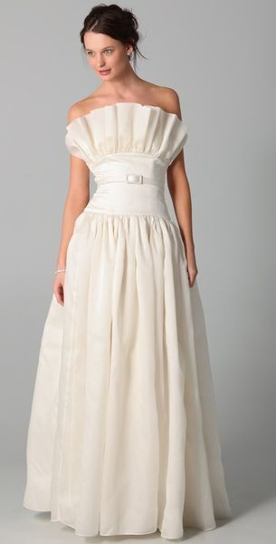 fancy Norma Strapless Gown with Belt - Lyst