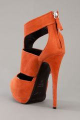Giuseppe Zanotti Shoe Boot in Orange - Lyst