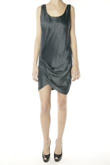 Helmut Lang Side Twisted Dress - Mercury - Lyst