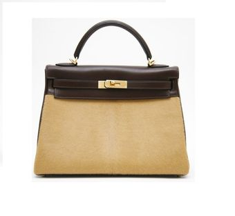 Hermes Troika Ebene Evergrain and Camel Hair Kelly - Lyst
