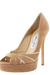Jimmy Choo Piped Suede Platform Pump - Lyst