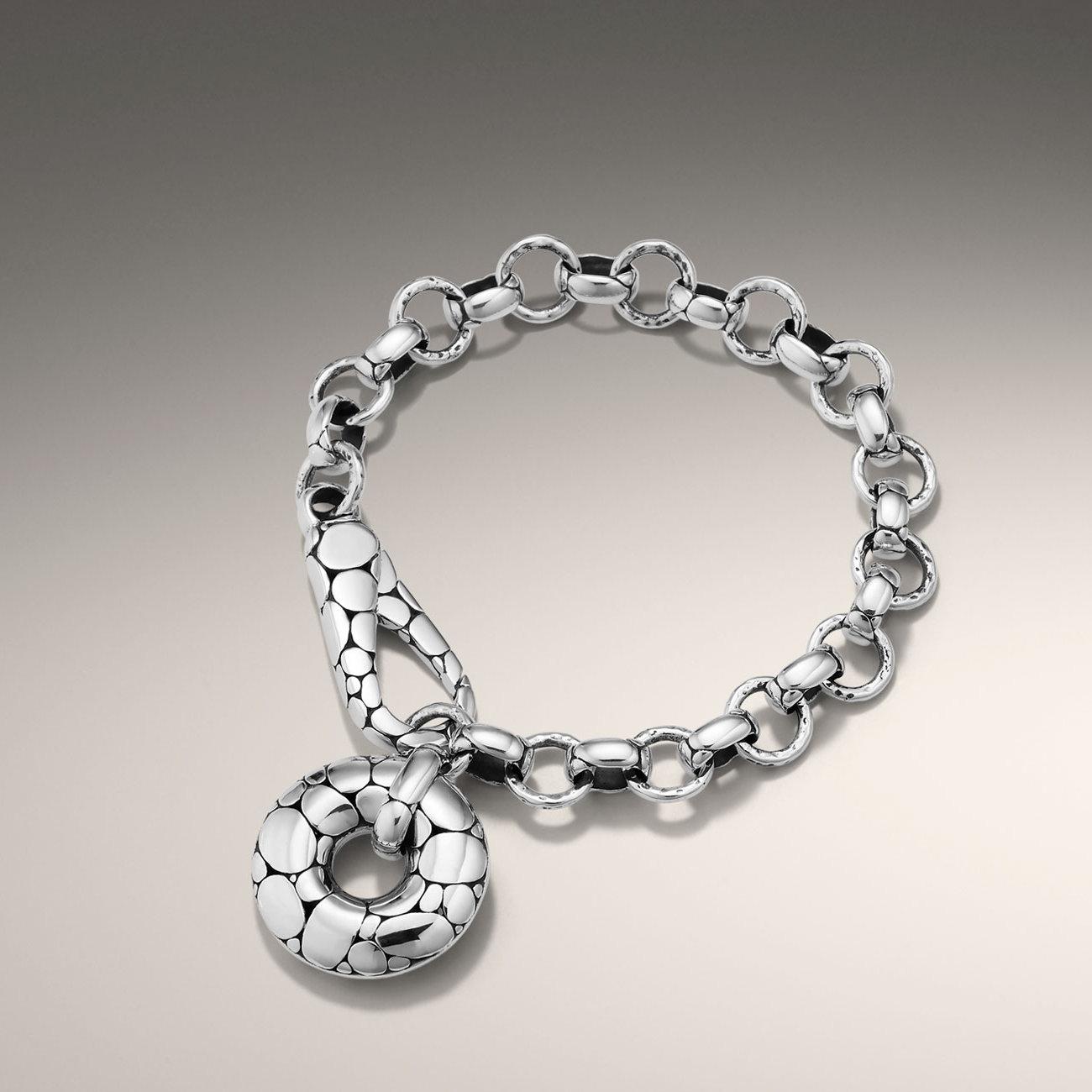 bc8efbb97e53 Lyst - John Hardy Link Bracelet with Doughnut Clasp in Metallic
