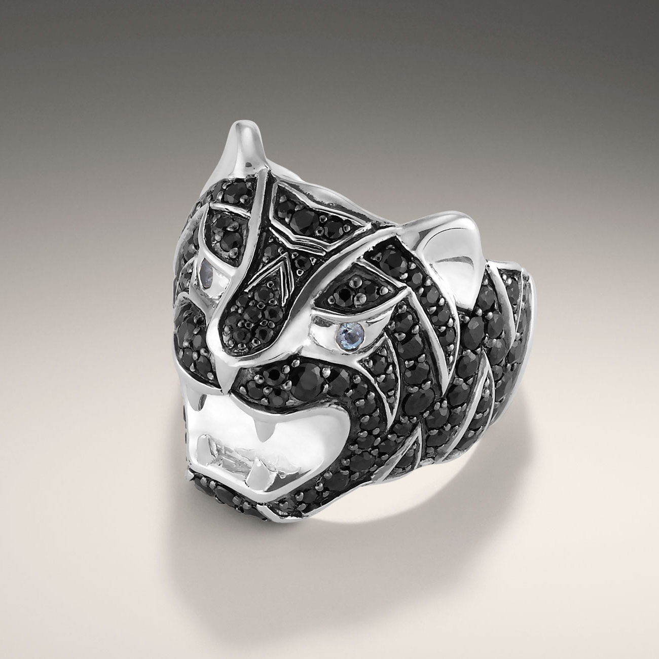 John Hardy Tiger Head Ring In Silver For Men
