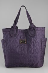 Marc By Marc Jacobs Pretty Nylon Medium Tate Tote in Purple (midnight) - Lyst