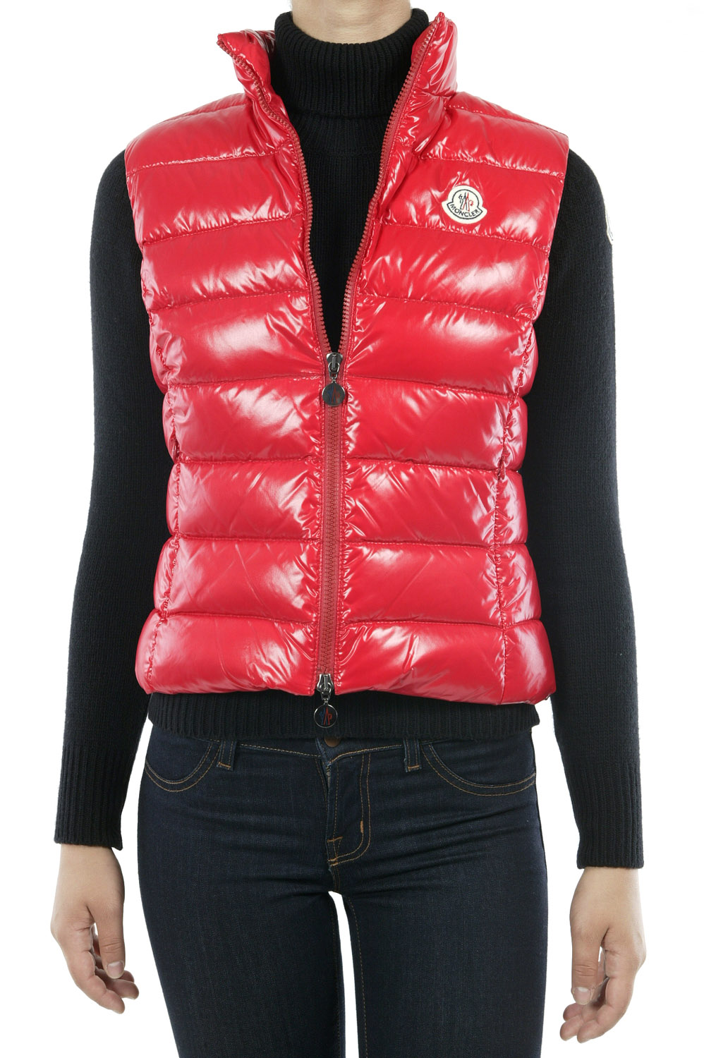 Moncler Ghany Down Vest Red In Red Lyst