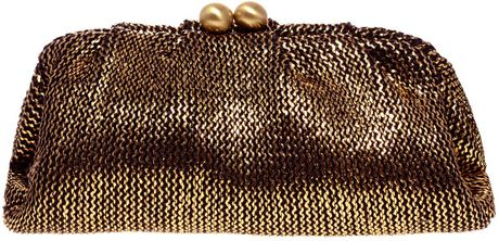 Oasis Straw Bobble Clutch in Brown (black) - Lyst
