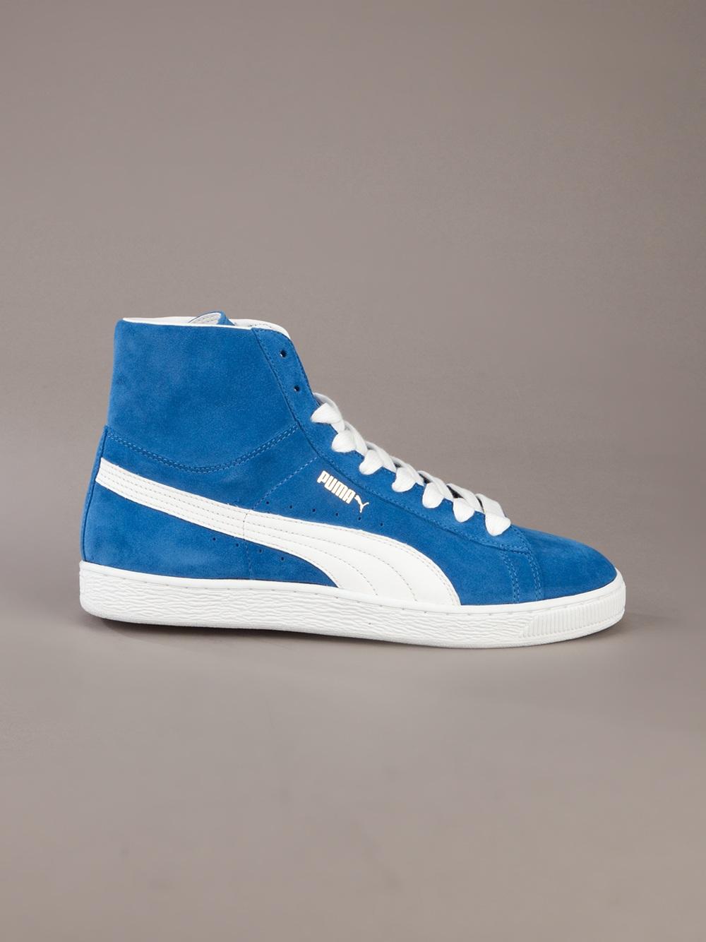 Puma Hi Top Sneakers In Blue For Men Lyst
