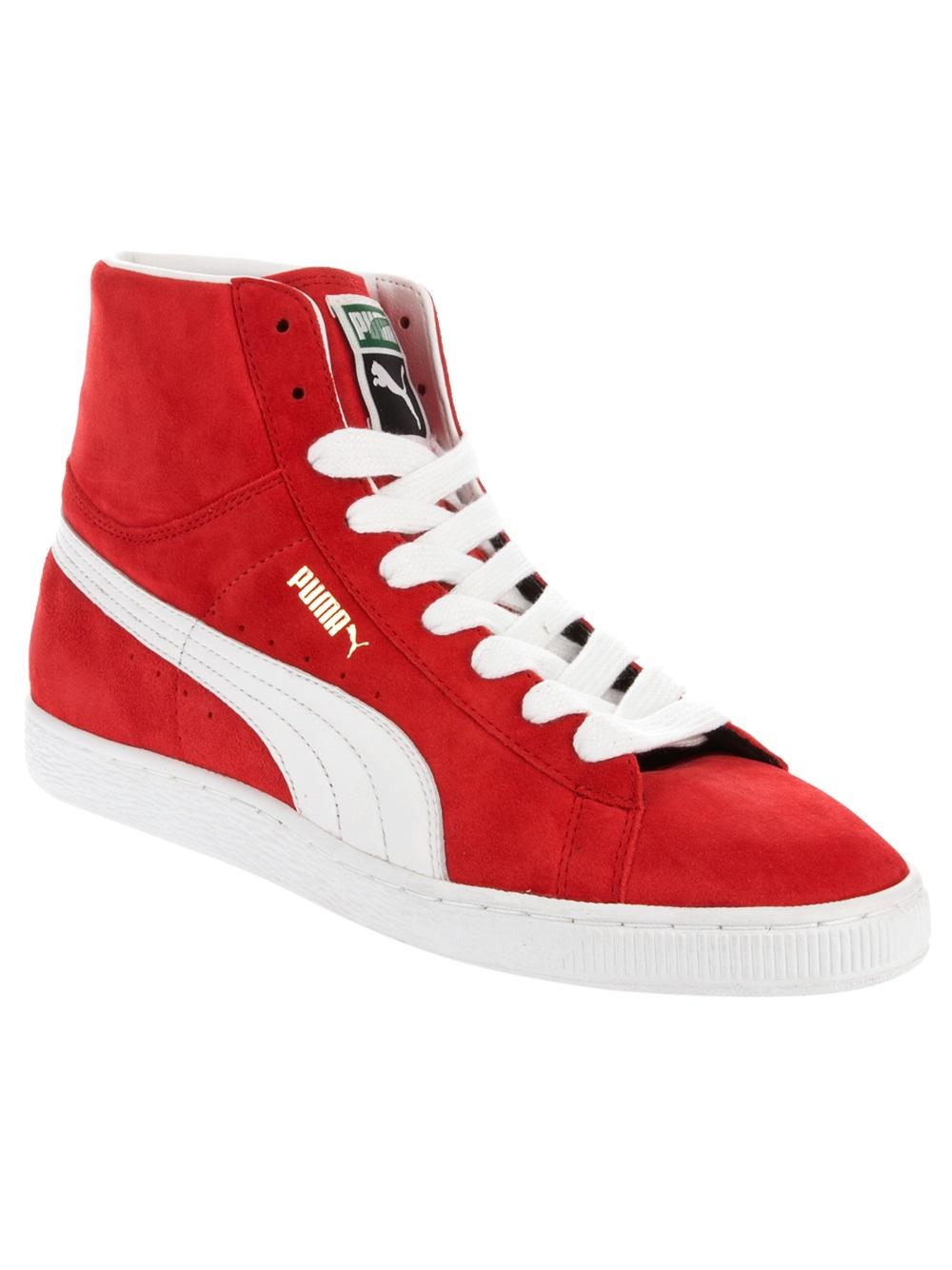 35237e8d3d3 PUMA Hi Top Sneakers in Red for Men - Lyst