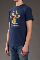 Ralph Lauren Printed Tshirt in Blue for Men - Lyst