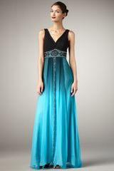 Sue Wong V-neck Ombre Gown - Lyst
