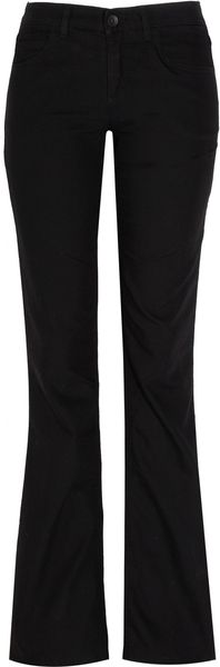 Theory Sinell Seed Stretch Cottontwill Wideleg Pants in Black - Lyst