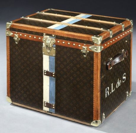 Vintage Louis Vuitton Argentina Cube Trunk in Black for Men (powder) - Lyst