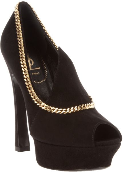 Saint Laurent Palais Pump in Black - Lyst