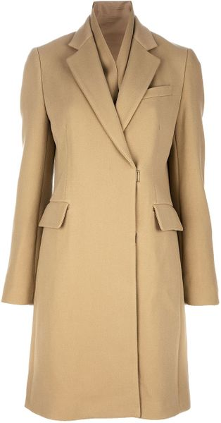 3.1 Phillip Lim Single Breasted Coat in Beige (camel) - Lyst