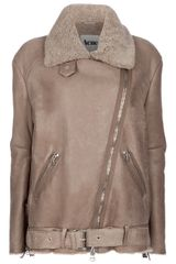 Acne Shearling Jacket - Lyst