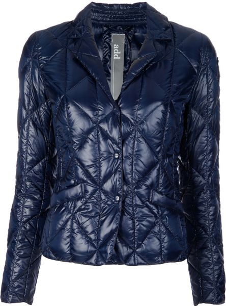 Add Quilted Jacket in Blue - Lyst